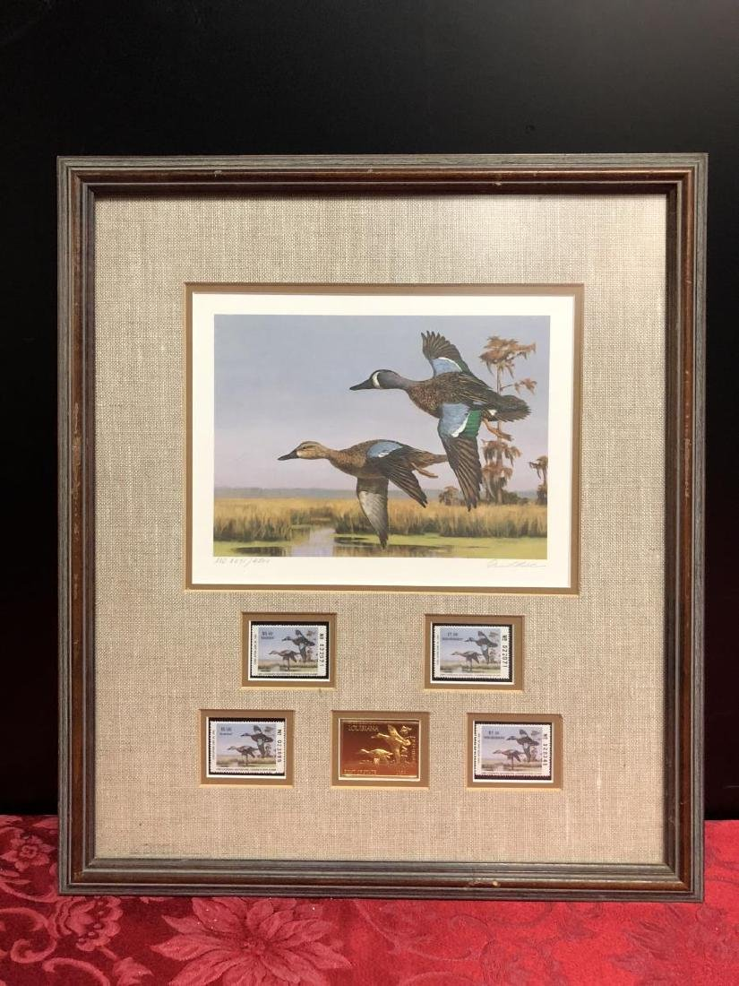 Pair of Framed Duck Stamp Prints 1987 1989 - 3