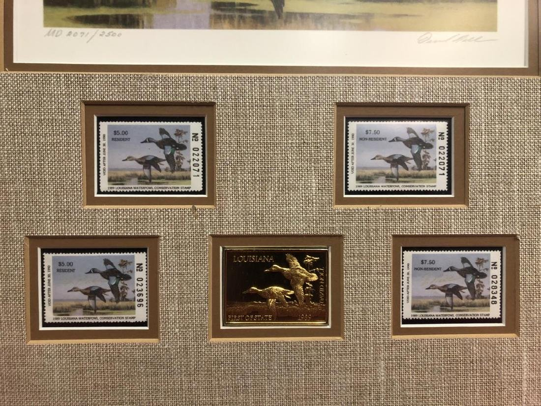 Pair of Framed Duck Stamp Prints 1987 1989 - 5
