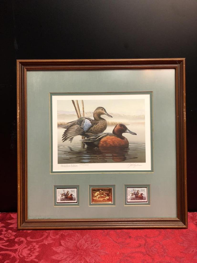 Pair of Framed Duck Stamp Prints 1987 1989 - 6