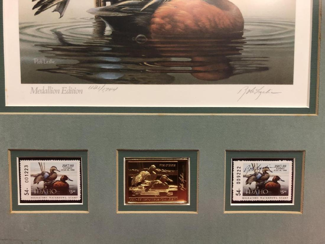 Pair of Framed Duck Stamp Prints 1987 1989 - 8