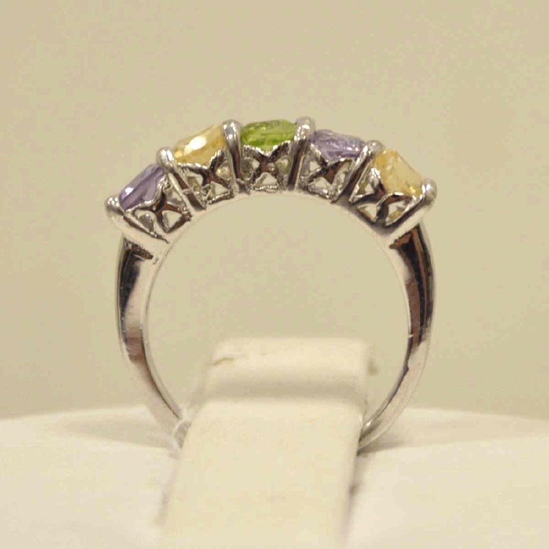 Sterling Amethyst, Peridot, and Citrine Band - 3