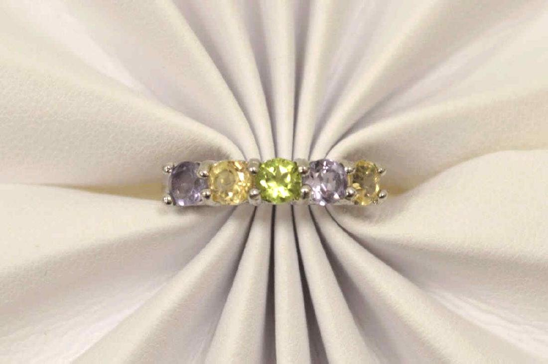 Sterling Amethyst, Peridot, and Citrine Band - 5