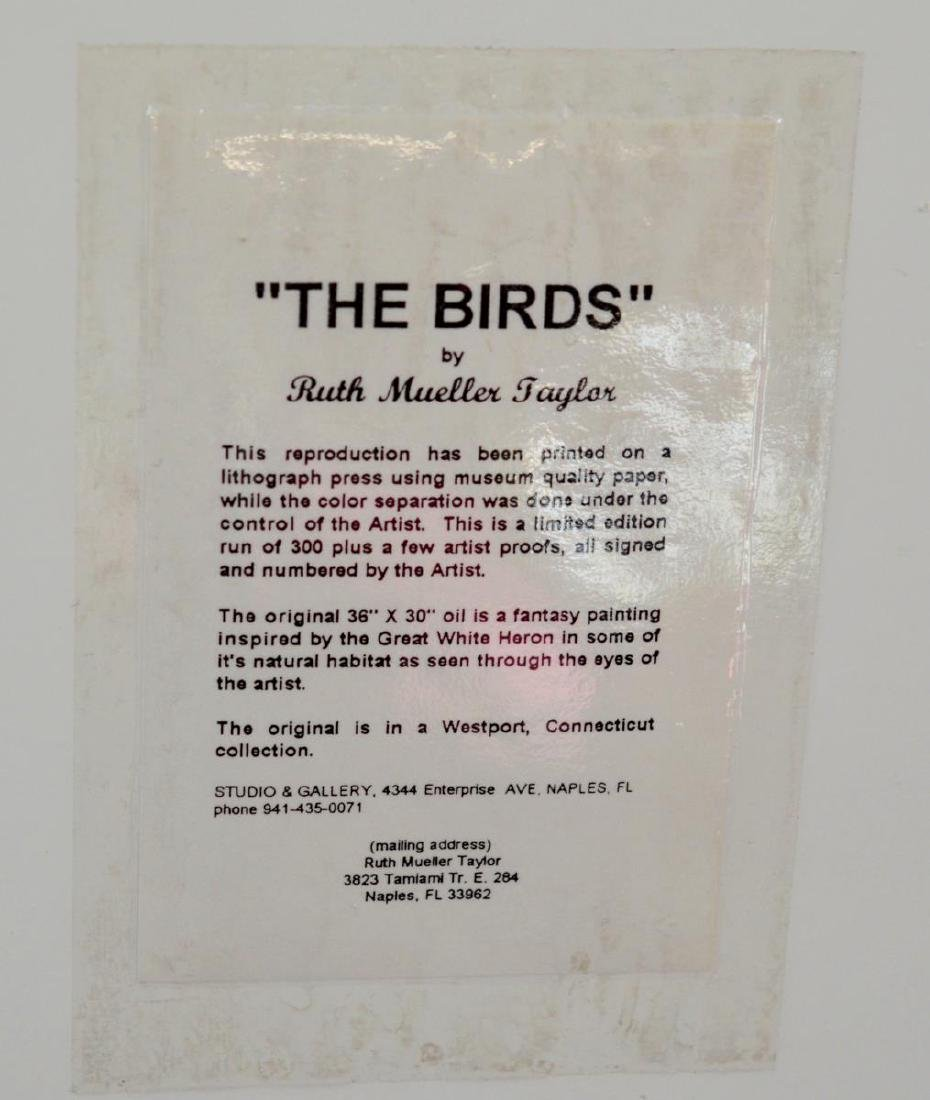 "Signed ""The Birds"" Litho by Ruth Mueller Taylor - 6"