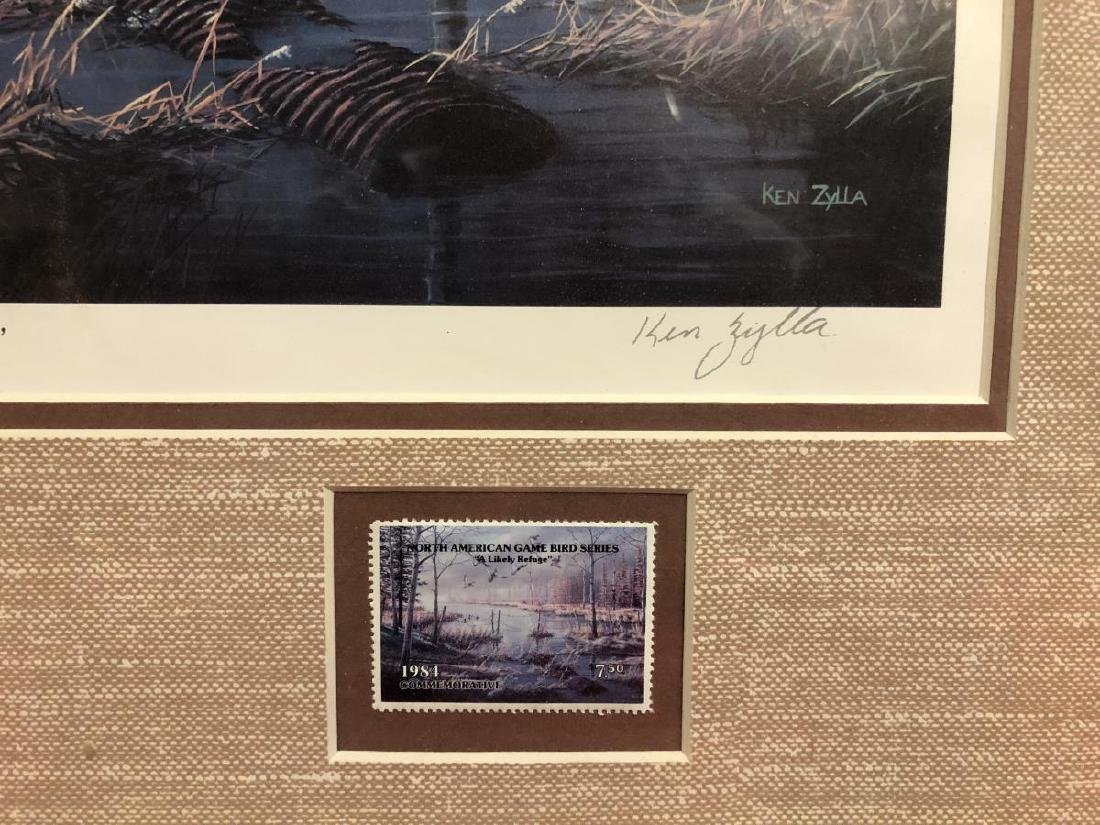 1984 Duck Stamp Print A LIKELY REFUGE by Ken Zylla - 4