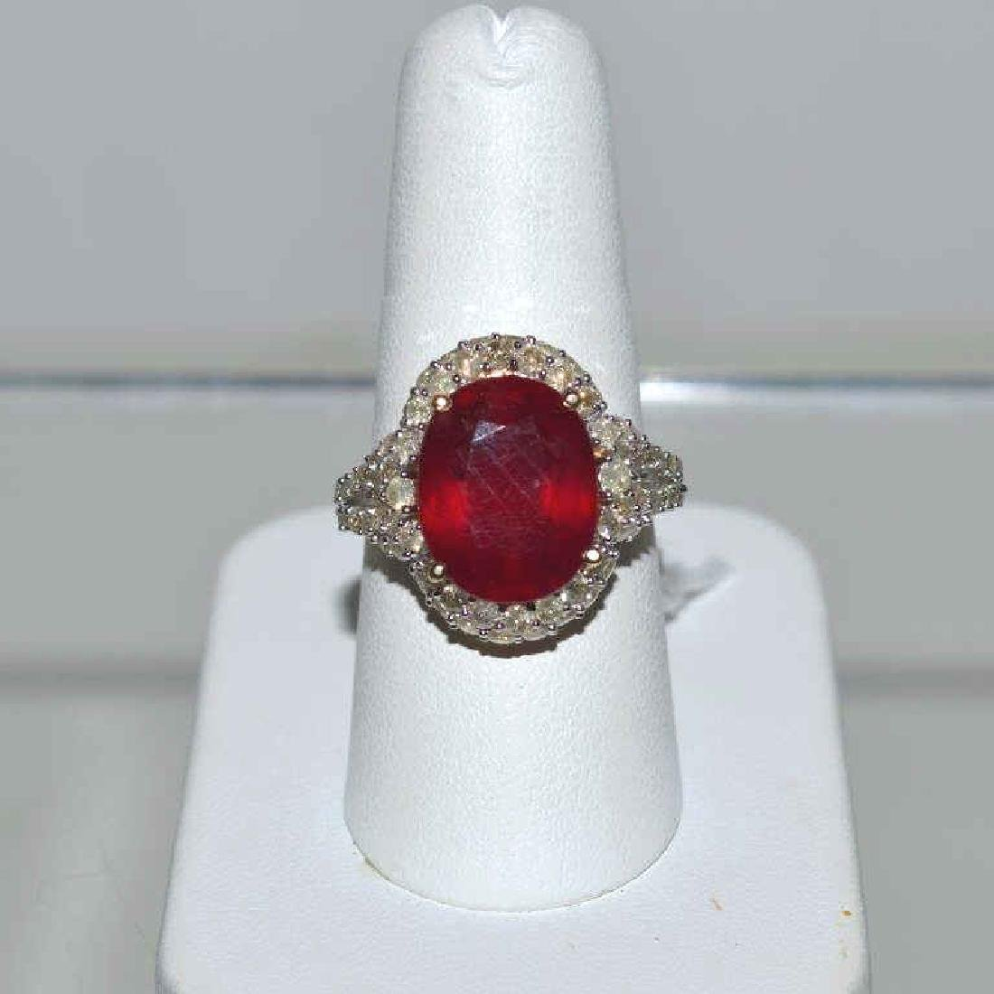 Ruby and Colored Diamond Ring