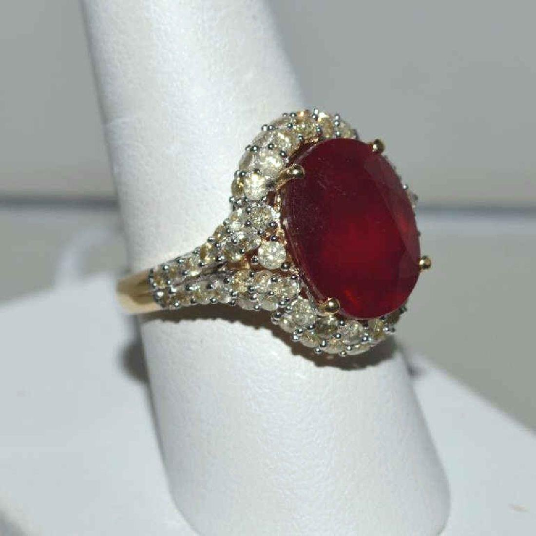 Ruby and Colored Diamond Ring - 2