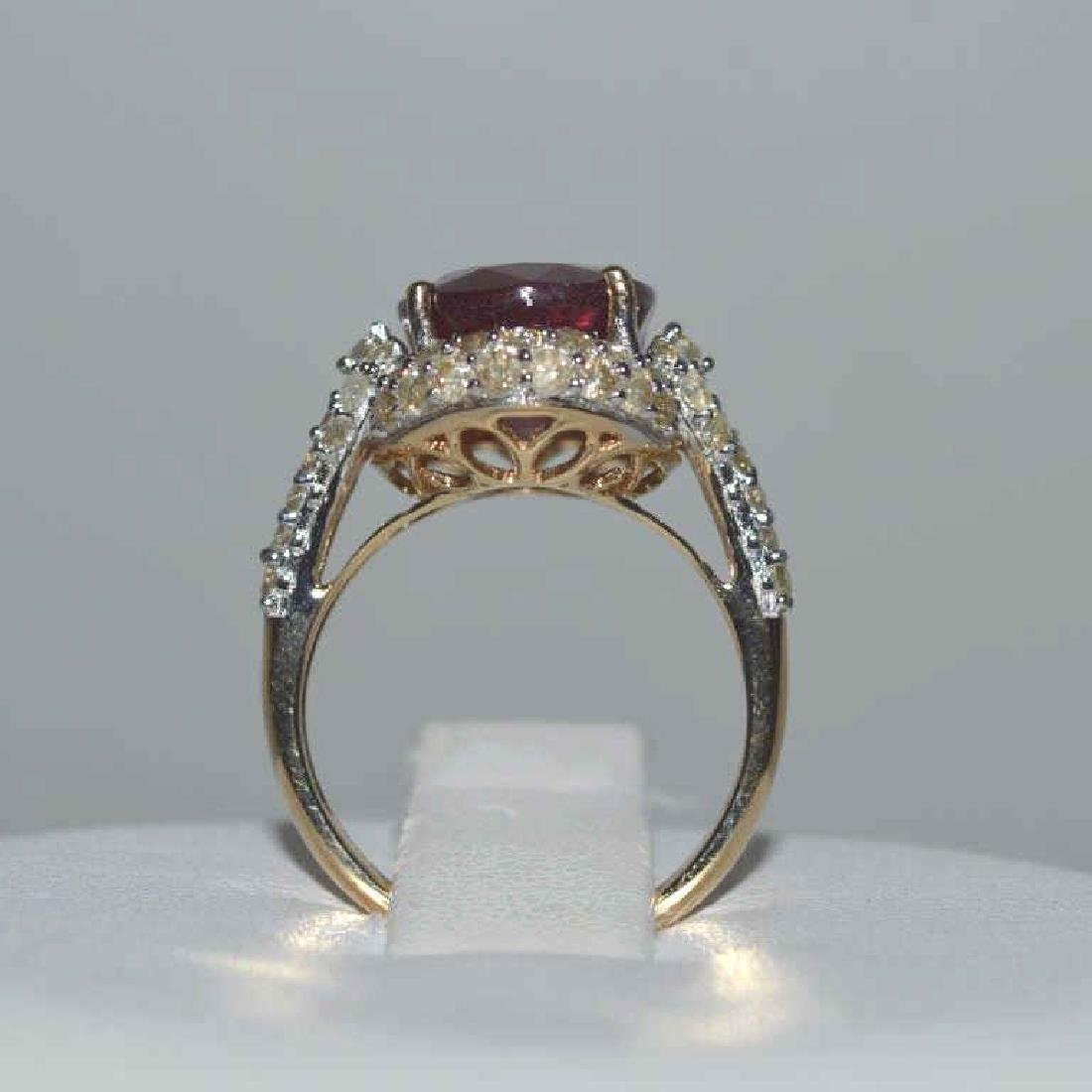 Ruby and Colored Diamond Ring - 3
