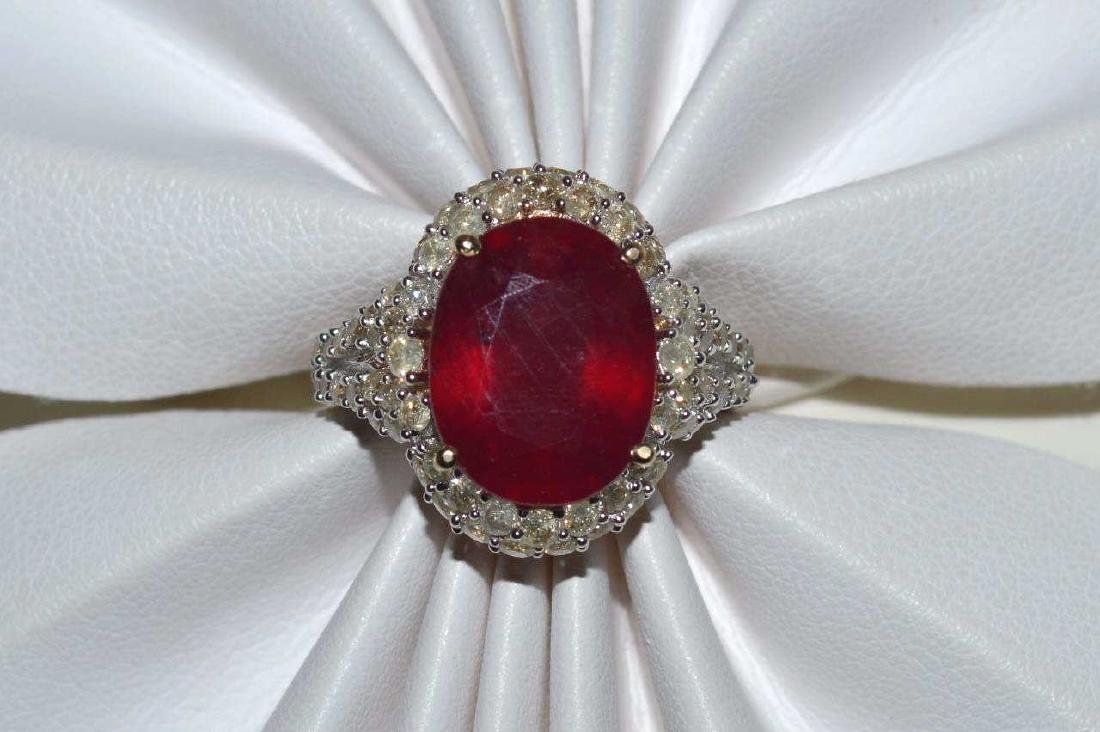 Ruby and Colored Diamond Ring - 5