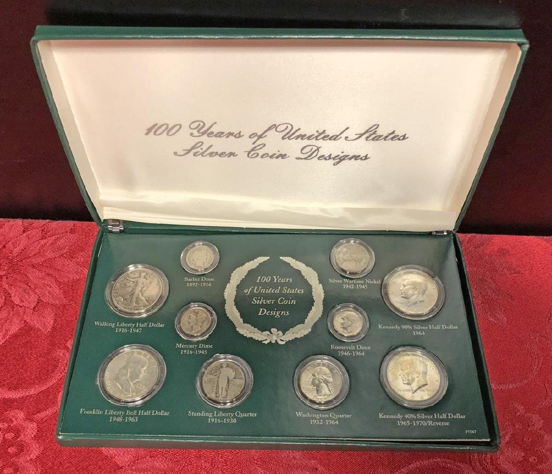 100 Years of US Silver Coins Presentation Set