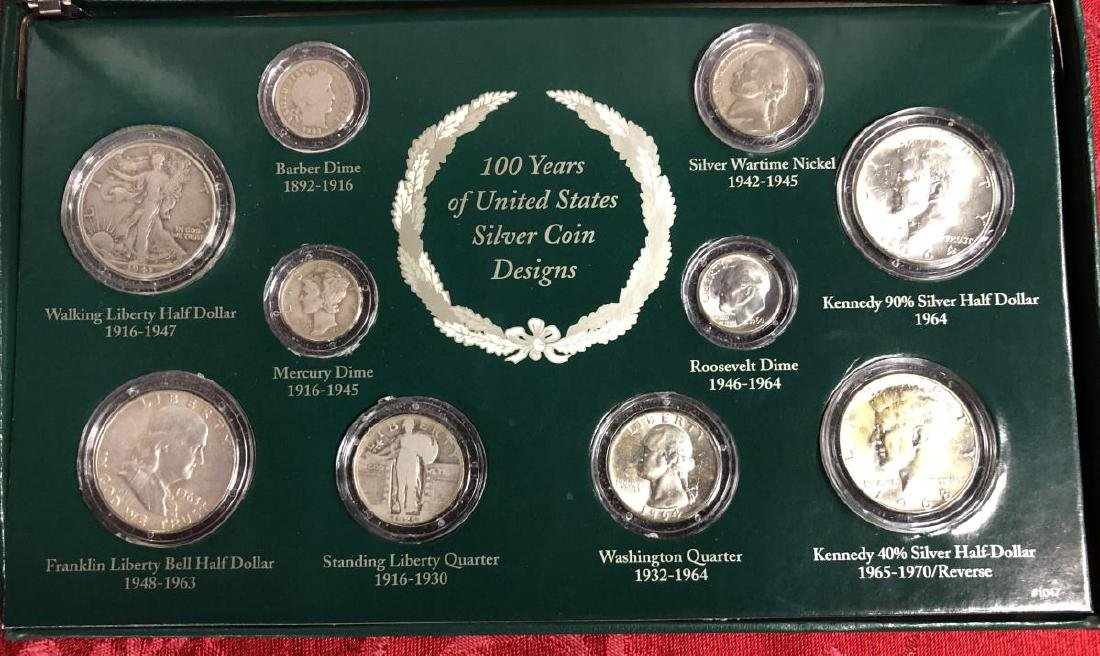 100 Years of US Silver Coins Presentation Set - 2