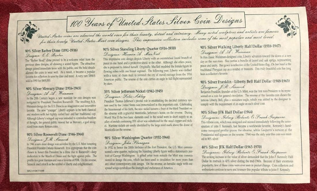 100 Years of US Silver Coins Presentation Set - 4