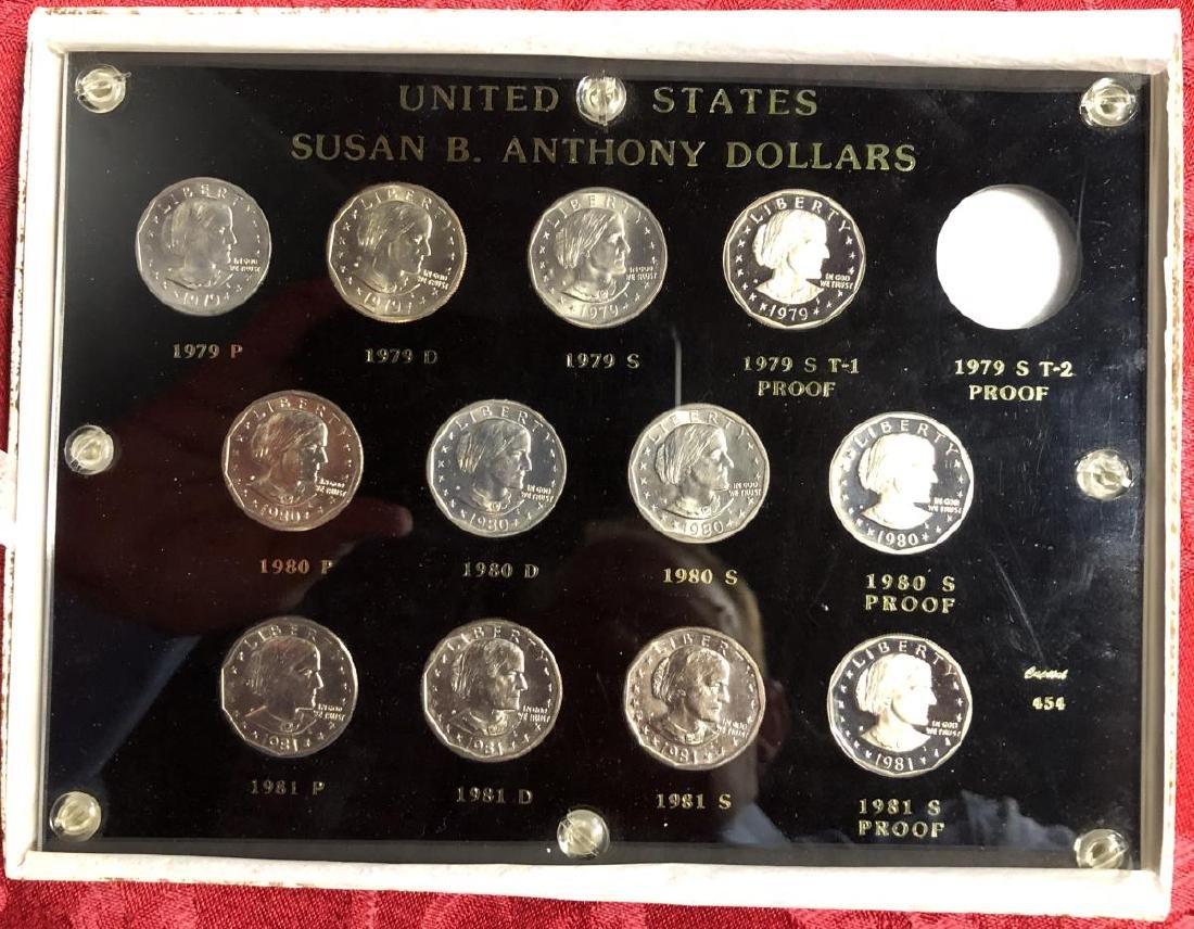 Susan B. Anthony Dollar Set 1979-1981 BU & PR