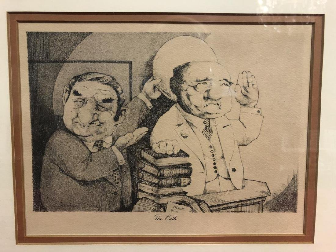 Pair of Etchings by Satirical Artist Charles Bragg - 2