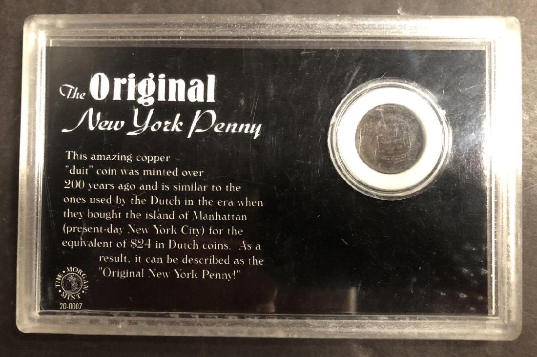 """1737 & 1750 Dutch Duit Coins """"New York Penny"""" - 3"""