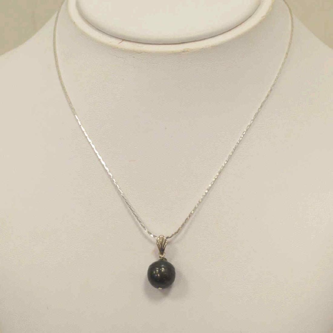 Sterling Silver Black South Sea Pearl Pendant