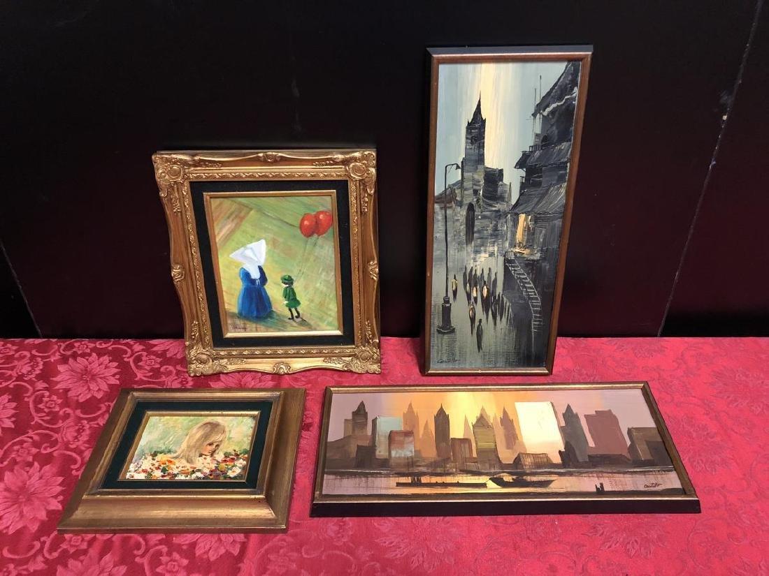 Lot of 4 Various Framed Artworks