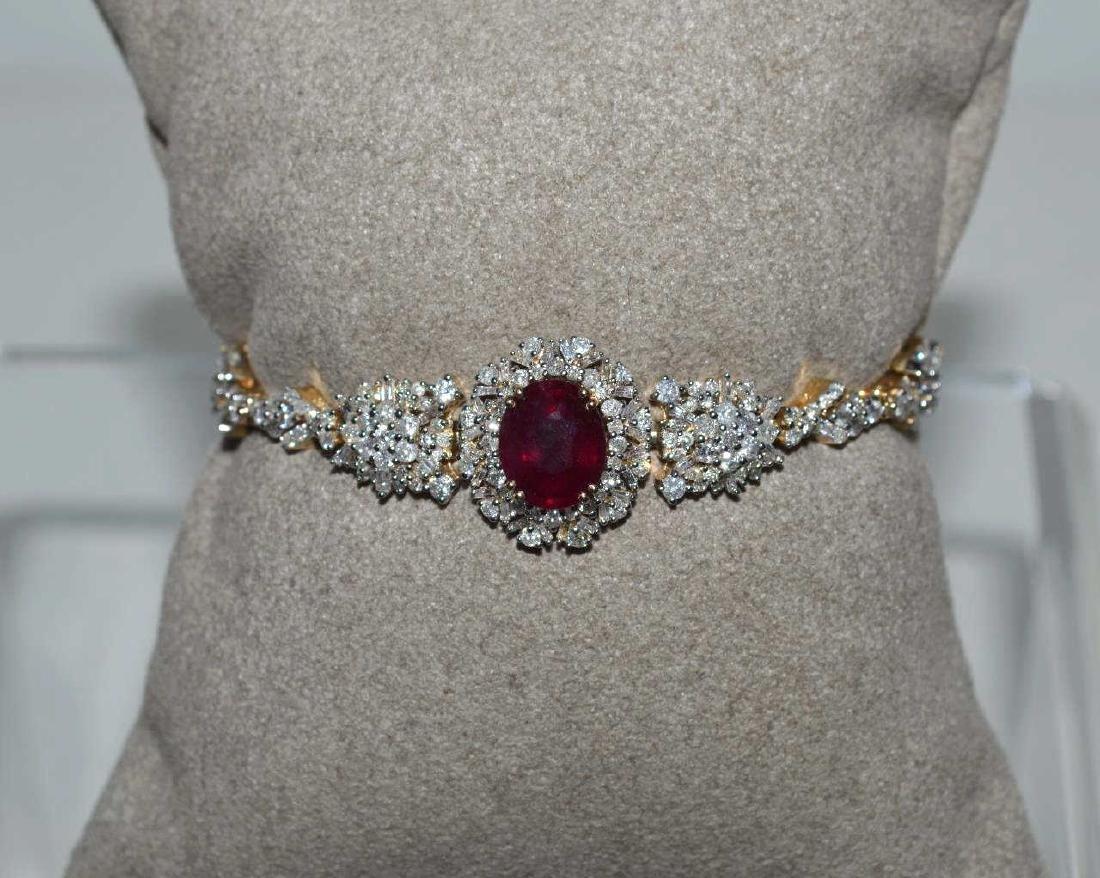 Ruby and Diamond Bracelet