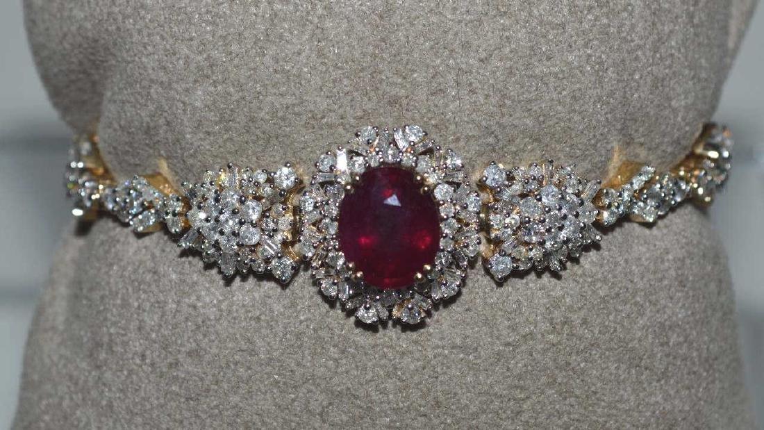 Ruby and Diamond Bracelet - 2