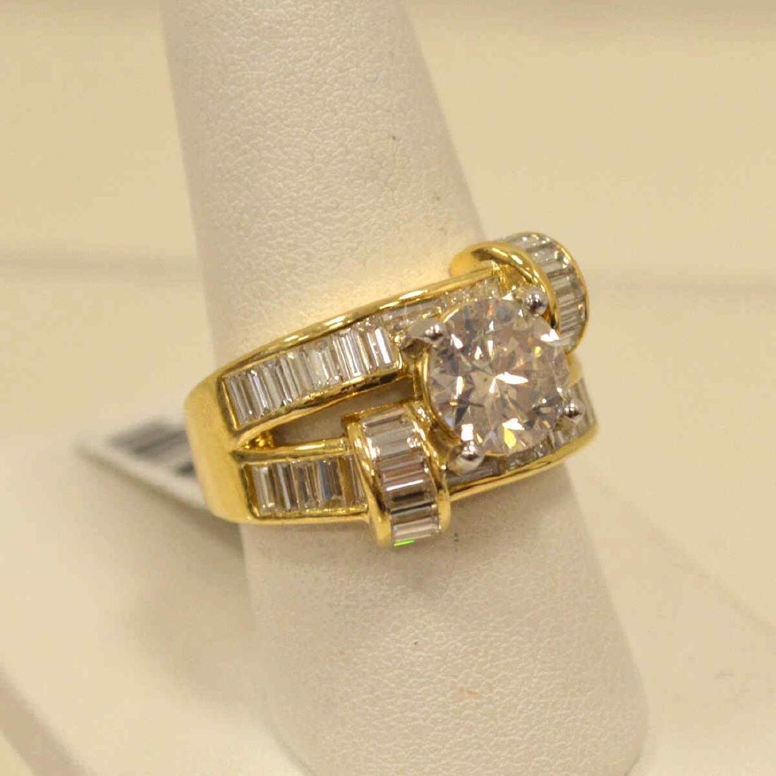 18kt yellow gold diamond fashion ring - 2