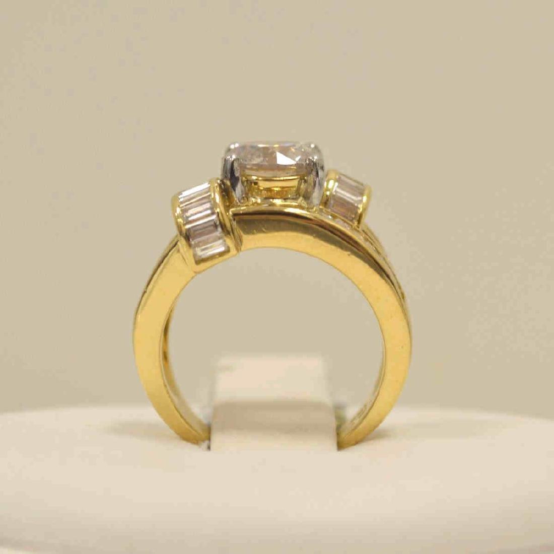 18kt yellow gold diamond fashion ring - 3