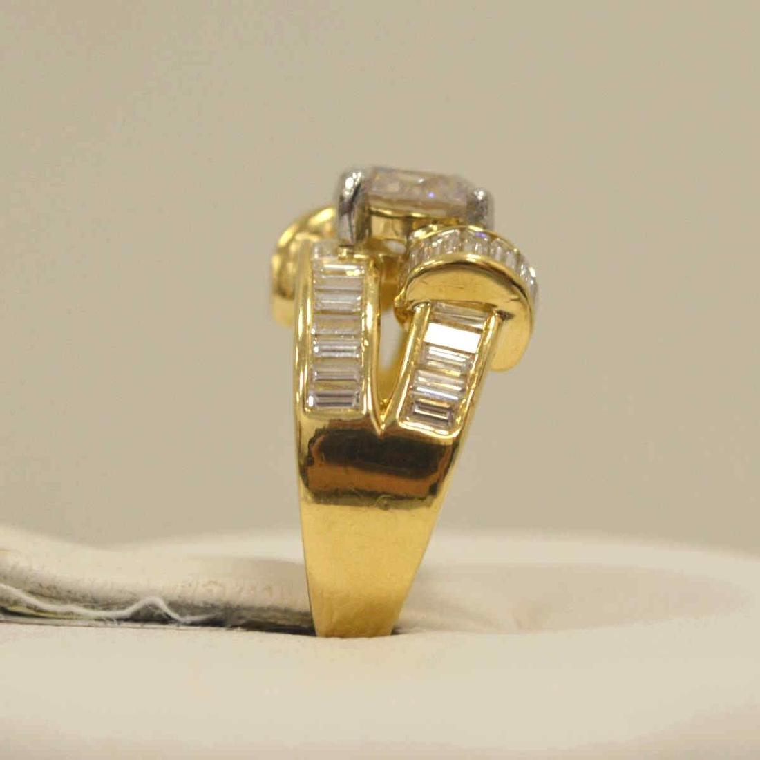 18kt yellow gold diamond fashion ring - 4