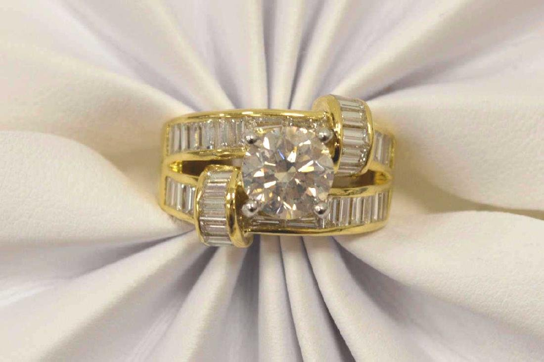 18kt yellow gold diamond fashion ring - 5
