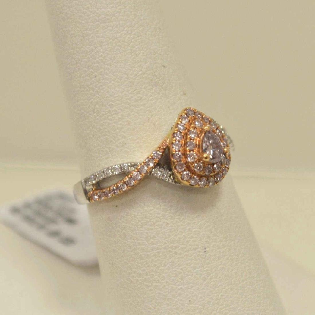 18kt two tone pink diamond fashion ring - 2