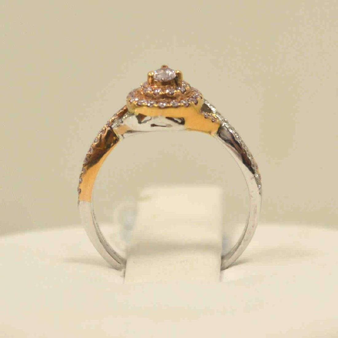 18kt two tone pink diamond fashion ring - 3