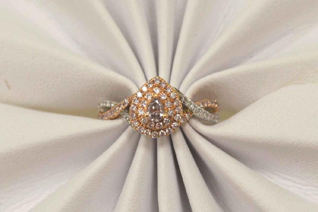 18kt two tone pink diamond fashion ring - 5