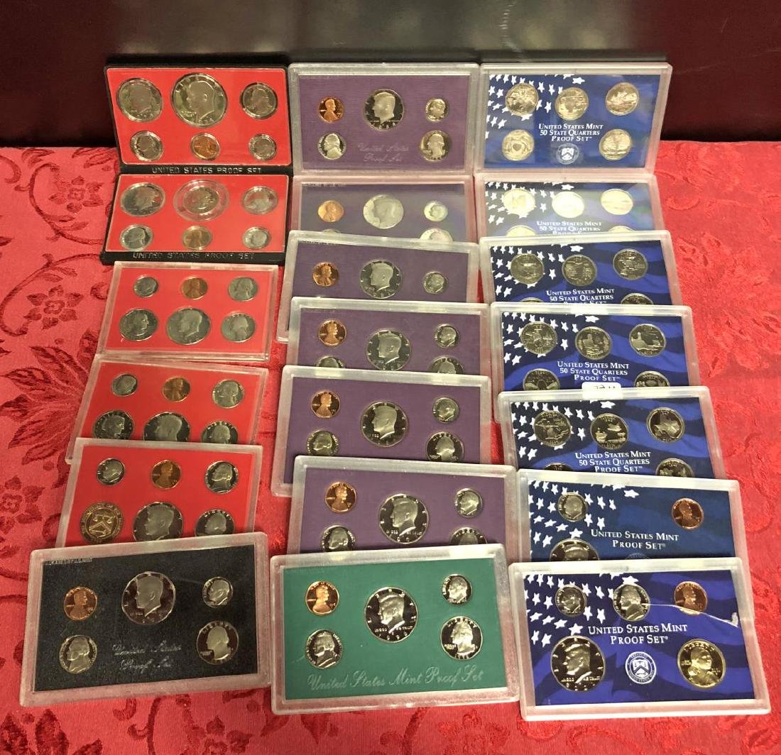 Lot of 100+ Proof Struck US Coins Cents to $1