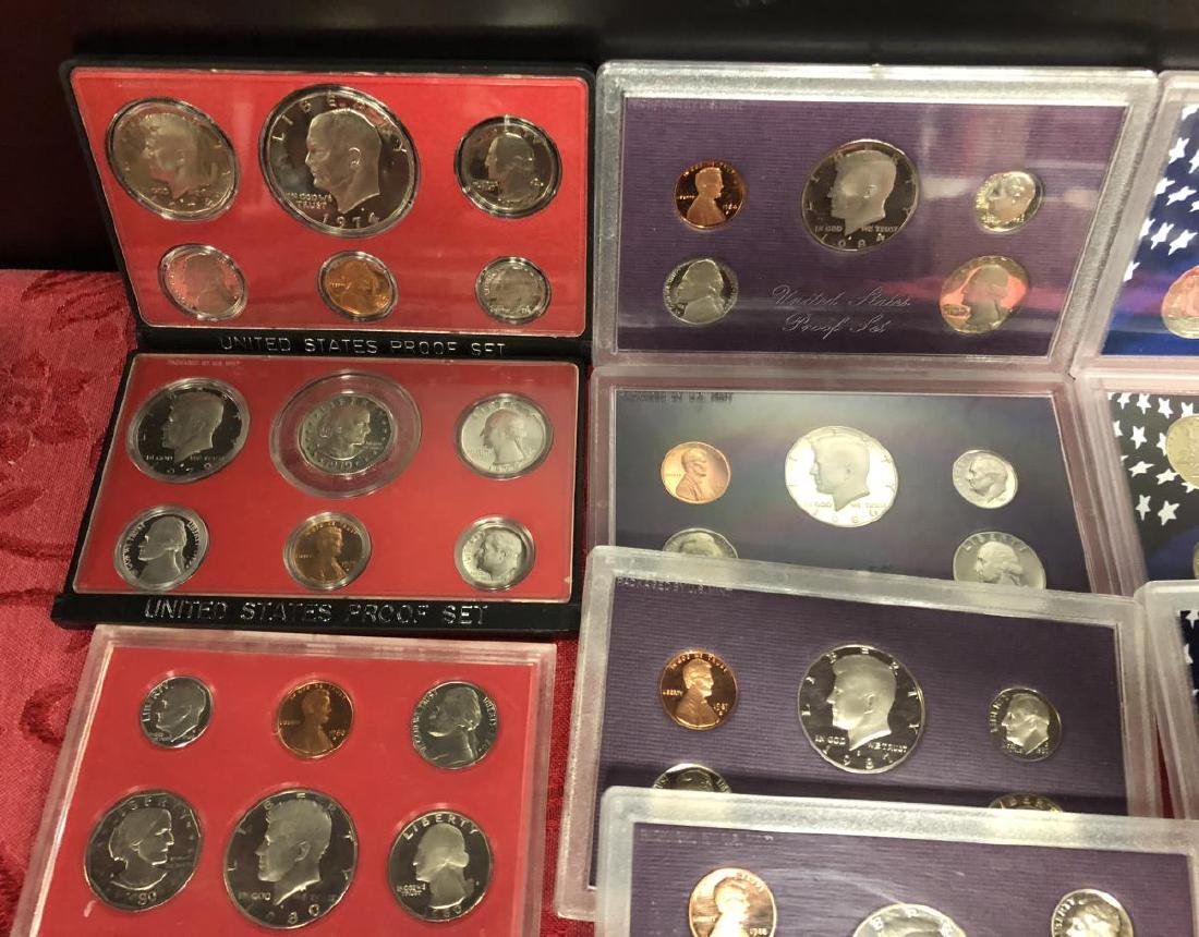 Lot of 100+ Proof Struck US Coins Cents to $1 - 2