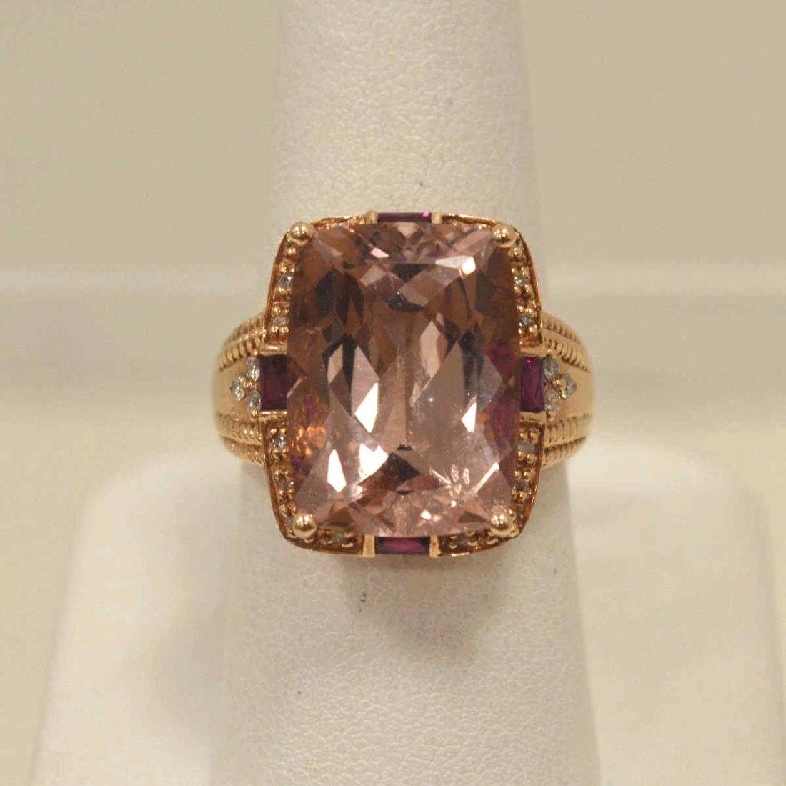 14kt rose gold morganite fashion ring