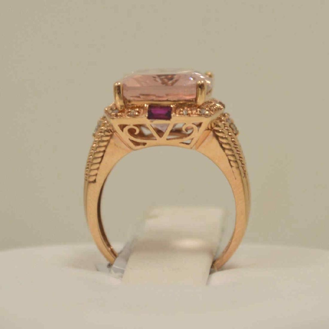 14kt rose gold morganite fashion ring - 3