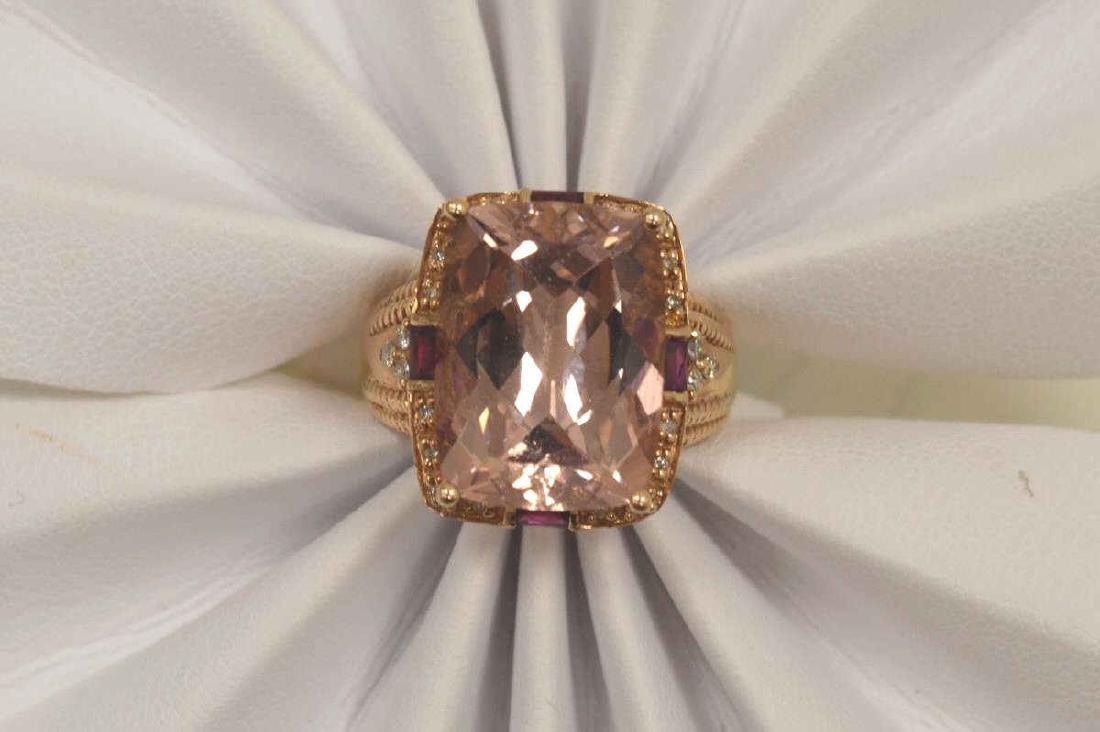 14kt rose gold morganite fashion ring - 5