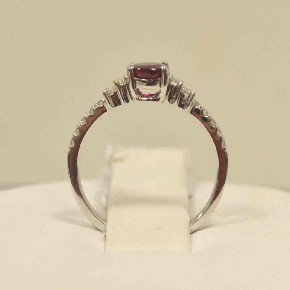 18kt white gold ruby and diamond ring - 3