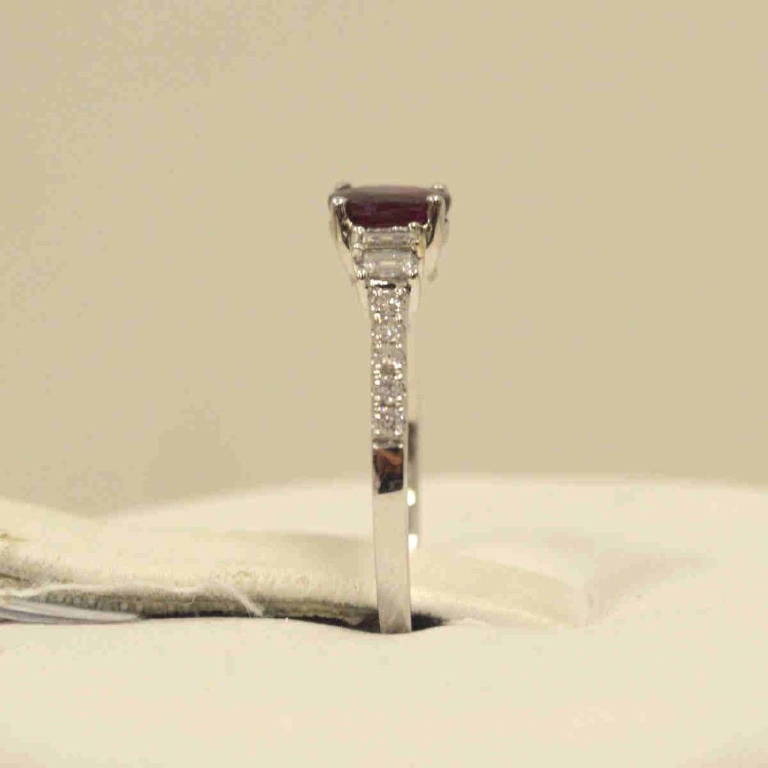 18kt white gold ruby and diamond ring - 4