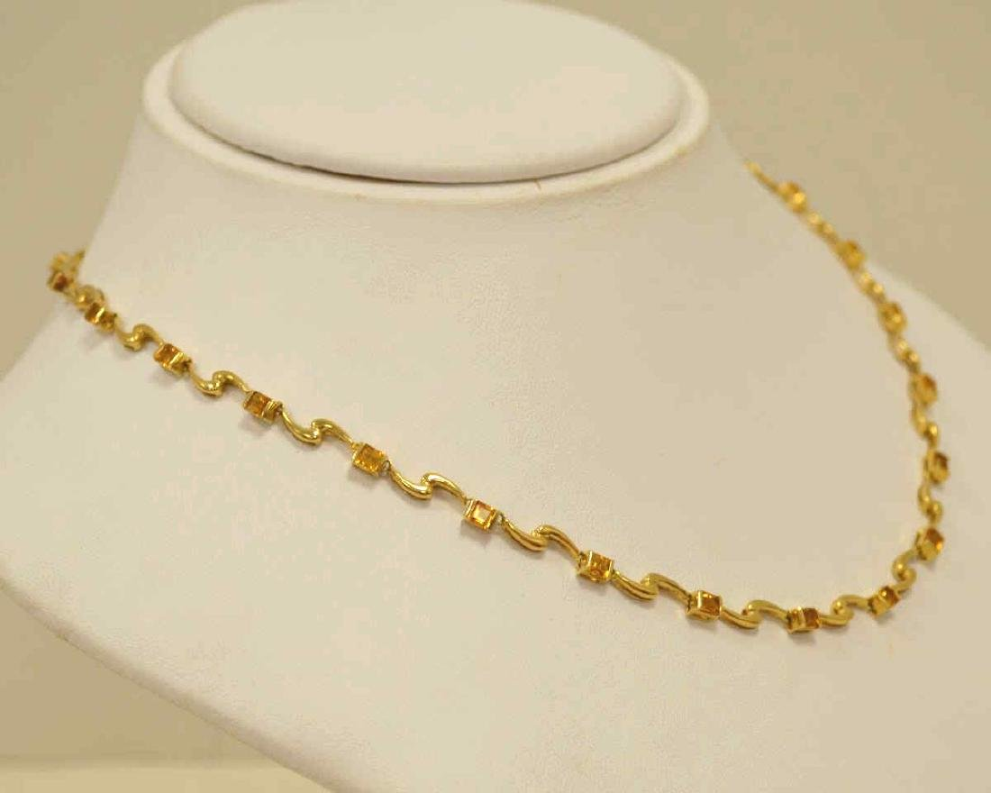18kt yellow gold citrine necklace - 3
