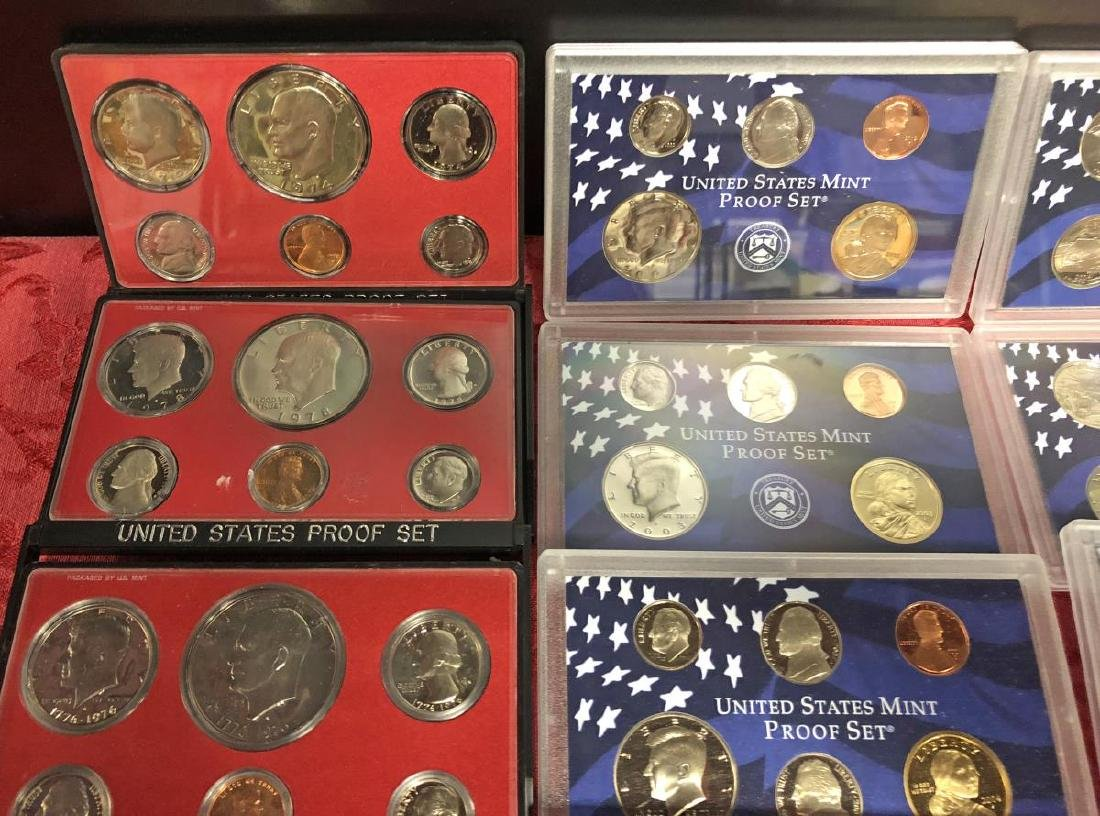 Lot of 100+ Proof Struck US Coins w/ Many Dollars - 2