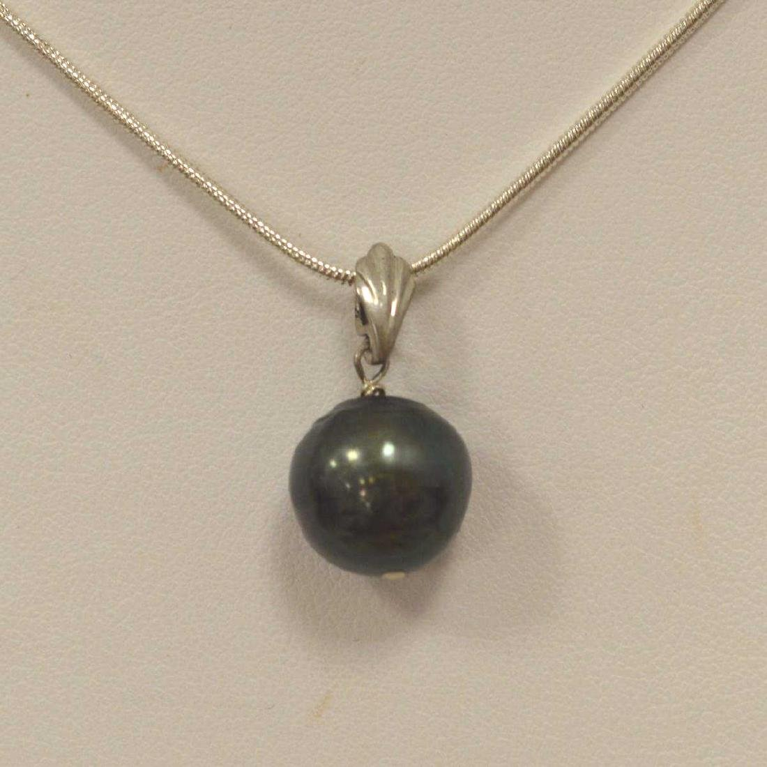 Sterling Silver Pearl Necklace - 2