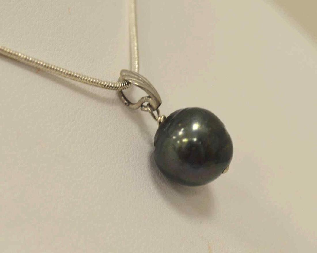 Sterling Silver Pearl Necklace - 3