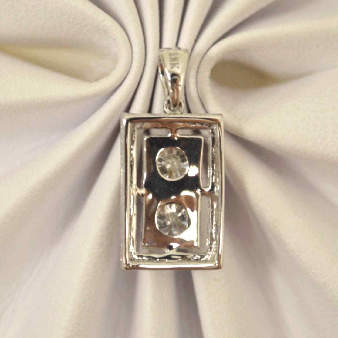 18kt white gold diamond pendant - 3