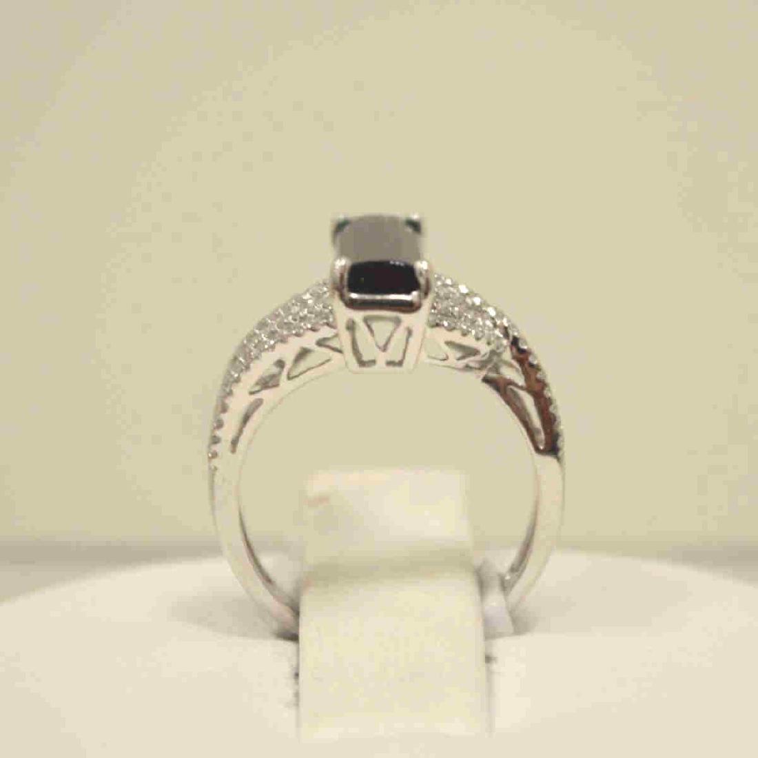 14kt white gold tourmaline and diamond ring - 3