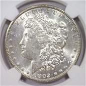1902O Morgan Silver Dollar NGC AU58