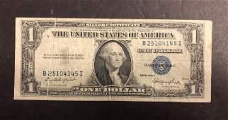 1935E 1 Silver Certificate w Gutter Fold ERROR