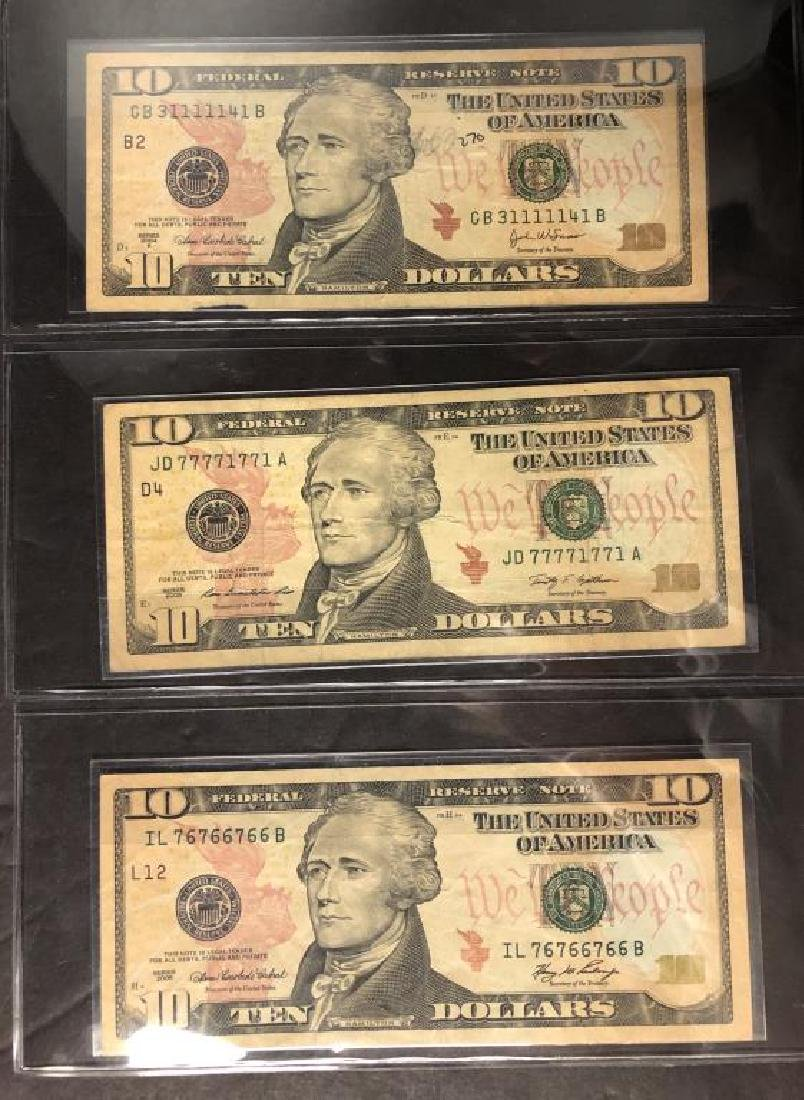 Lot of 3 $10 FRN Repeater & Fancy Serial Numbers - 2