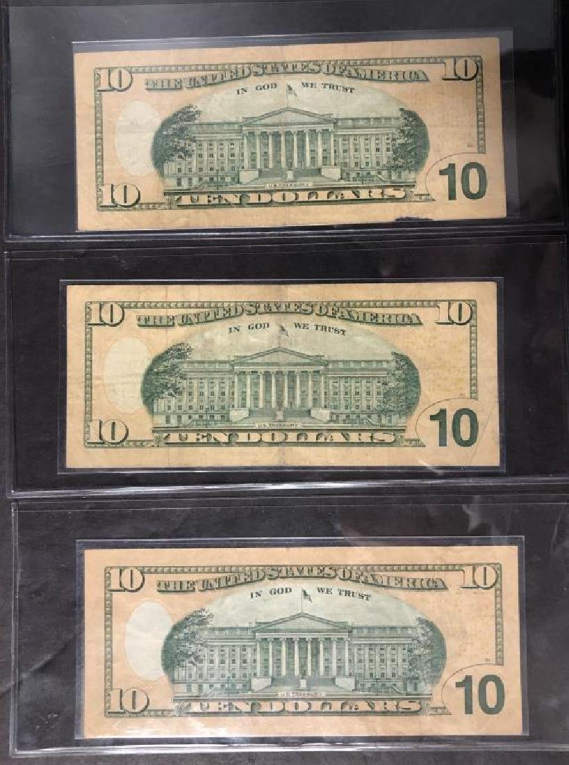 Lot of 3 $10 FRN Repeater & Fancy Serial Numbers - 3