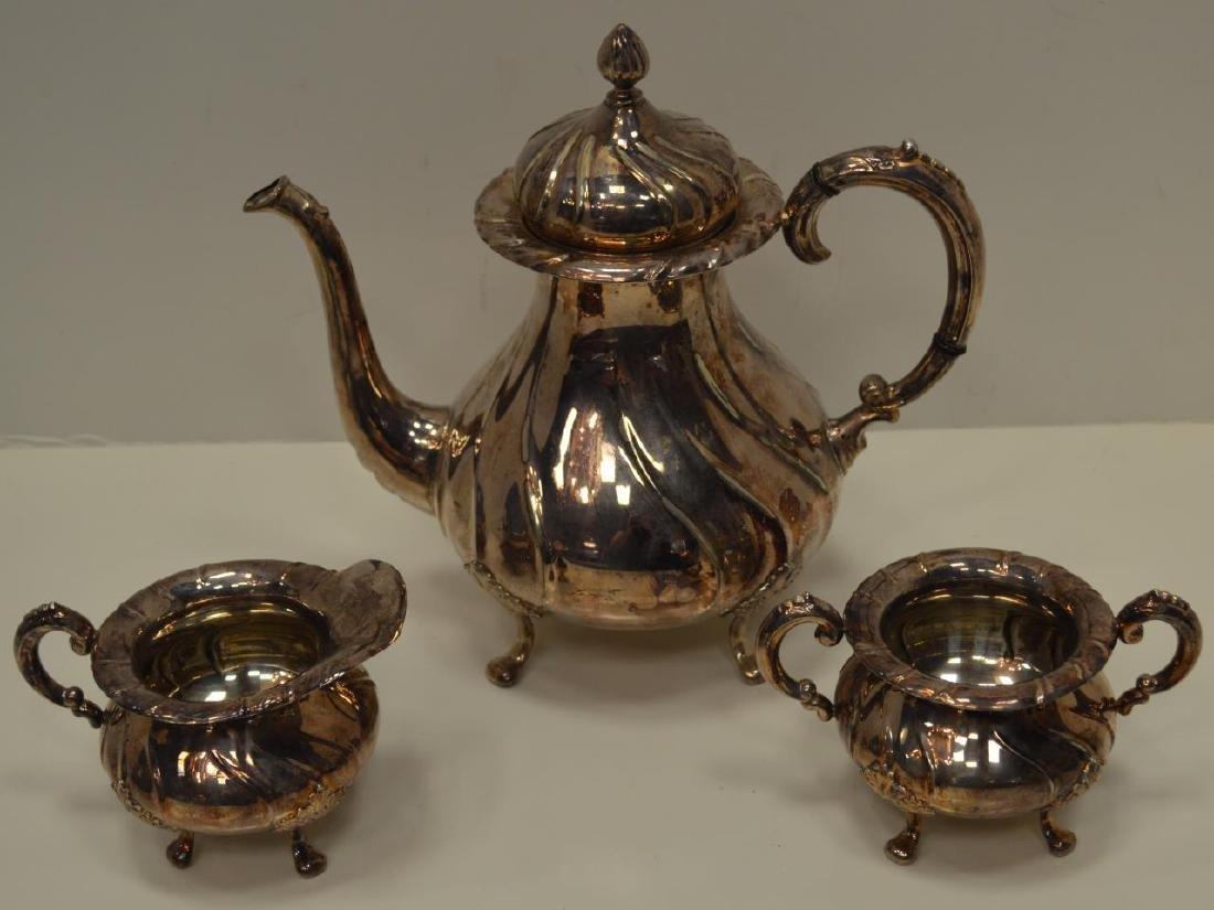 Norwegian 830 Silver Tea Pot, Creamer & Sugar