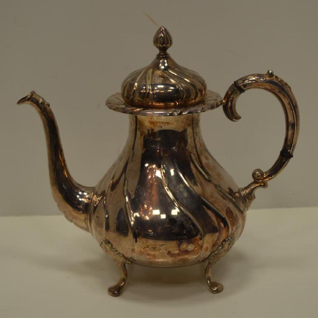 Norwegian 830 Silver Tea Pot, Creamer & Sugar - 2