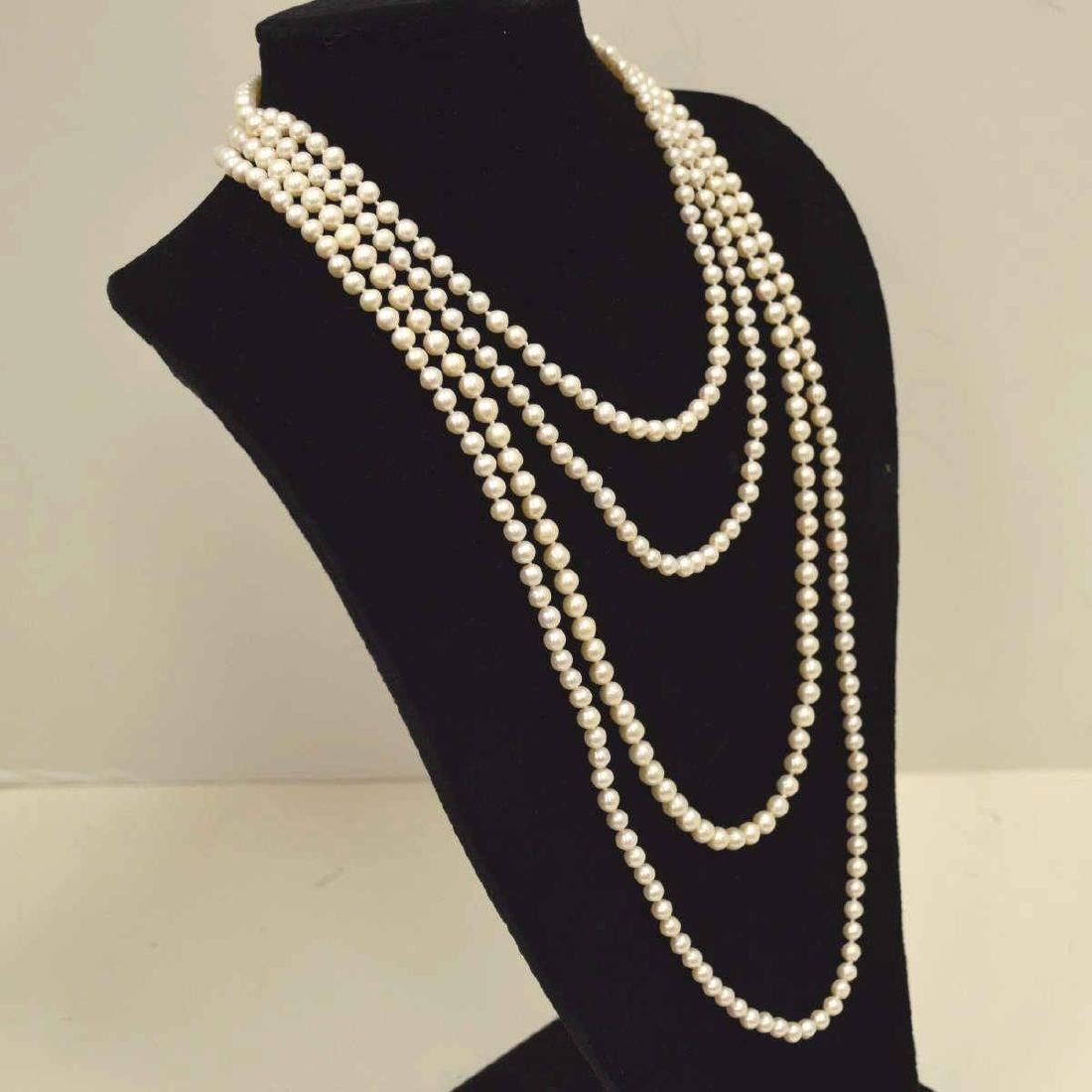 "96"" continuous strand of freshwater pearls - 3"