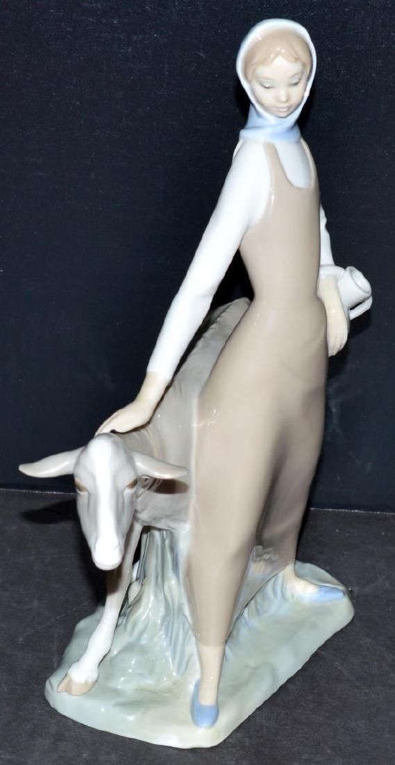 Lladro Figurine #4590 Girl with Pitcher/Jug & Goat - 2
